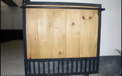 Door with Blanket Rail