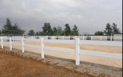2 Rail PVC Fence