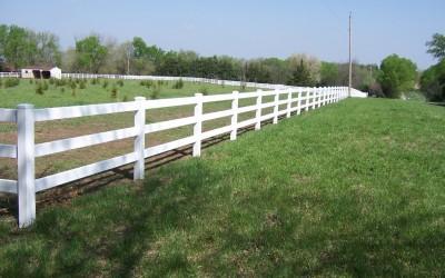 3 Rail PVC Fence